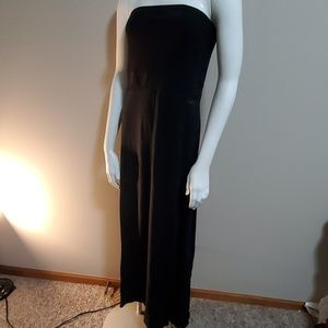 Hurley Black Strapless Maxi Dress